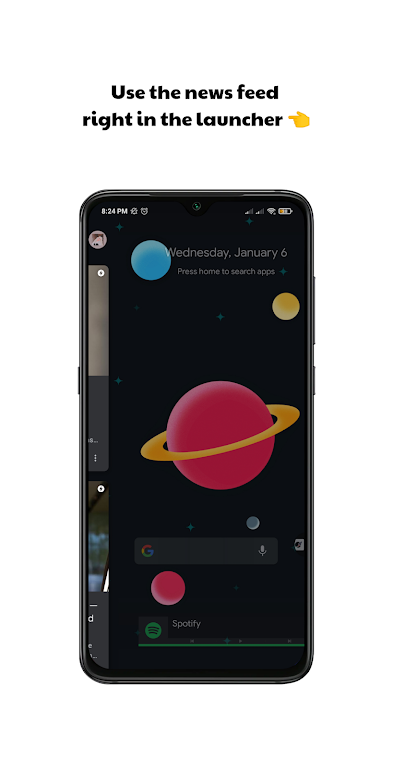 Milky Launcher Pro 🔹 Beautiful, Clean, Fresh 🌌  poster 3