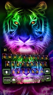 Neon Tiger Keyboard Theme 1