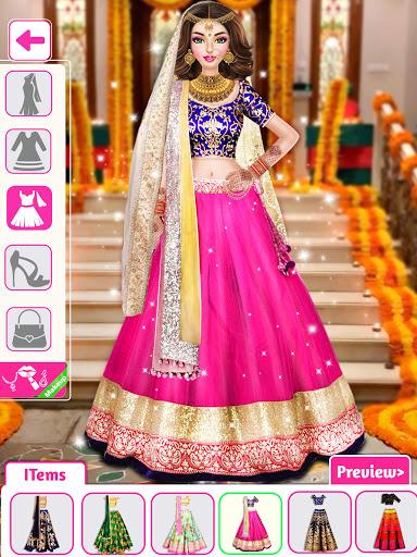 Indian Wedding Stylist - Makeup &  Dress up Games 0.17 screenshots 13