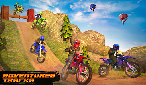 Motocross Dirt Bike Stunt Racing Offroad Bike Game apktram screenshots 10
