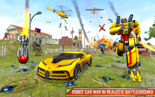 Bus Robot Car Transform: Flying Air Jet Robot Game apktram screenshots 2