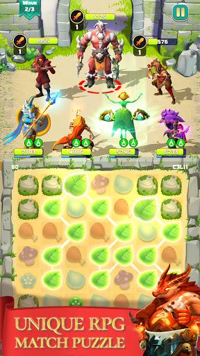 Télécharger Match & Slash: Fantasy RPG Puzzle APK MOD (Astuce) screenshots 1