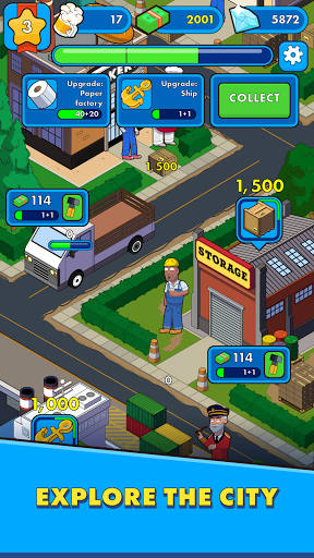 Simpolis: Express City Idle Varies with device screenshots 1