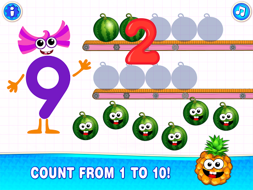 Learning numbers for kids! Writing Counting Games! apkslow screenshots 10