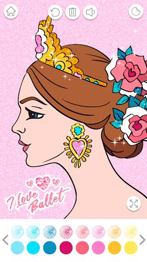 Ballerina Coloring Book Glitter - Girl Games 1.0.4.1 screenshots 5