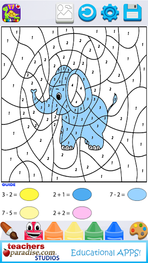 Kids Math Paint by Number Game 2 screenshots 2