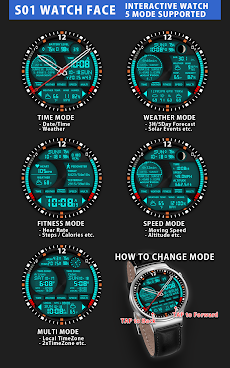 S01 WatchFace for Android Wearのおすすめ画像1