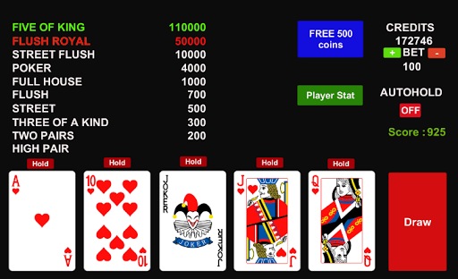 Poker Jolly Card 1.5 screenshots 1