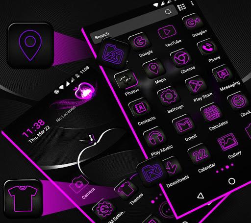 Crystal Black Apple Launcher Theme modavailable screenshots 2