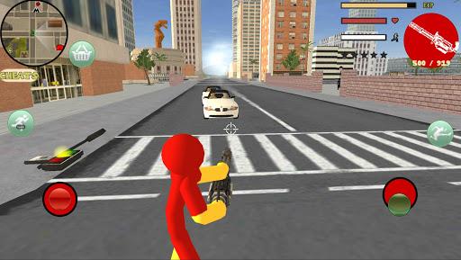 Iron Stickman Rope Hero Gangstar Crime 4.0 Screenshots 3