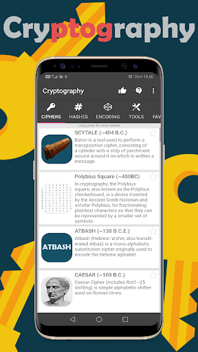 Download APK: Cryptography – Collection of ciphers and hashes v1.15.0 [Unlocked]
