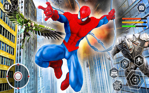 Spider Rope Superhero War Game - Crime City Battle  screenshots 9