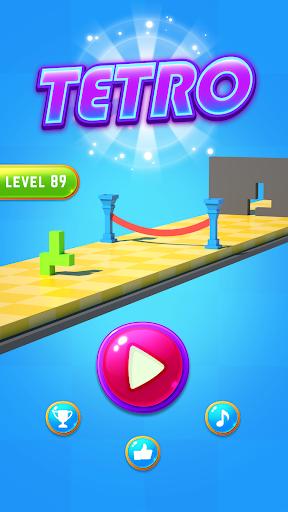 Télécharger Gratuit Tetro Block Puzzle – Shape Escape Run apk mod screenshots 1