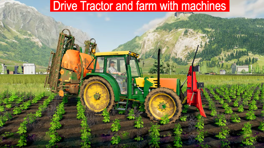 Drive Tractor Farming Game 2021-Combine Harvesters Apk Download 3