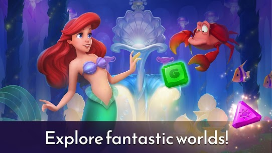 Disney Princess Majestic Quest: Match 3 & Decorate APK, Disney Princess Majestic Quest Mod Apk ***NEW 2021*** 4