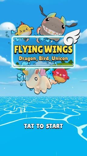 Flying Wings - Run Game with Dragon, Bird, Unicorn 2.1 screenshots 1