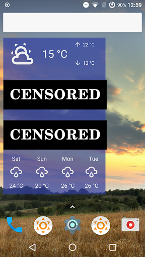 Fu*** Weather (Funny Weather) 11.0.18 (20200616 22:22)-release Screenshots 5