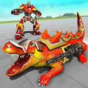Monster Crocodile Robot Rampage City Attack