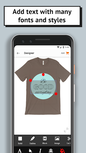 T-shirt design - OShirt android2mod screenshots 3