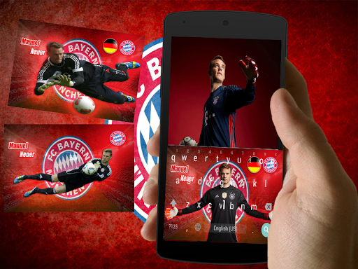 manuel neuer keyboard theme screenshot 1
