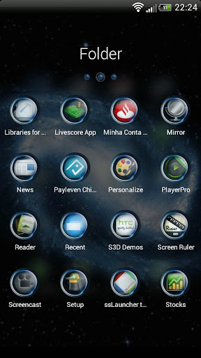 Blue Galaxy GO Launcher Theme For PC Windows (7, 8, 10, 10X) & Mac Computer Image Number- 7