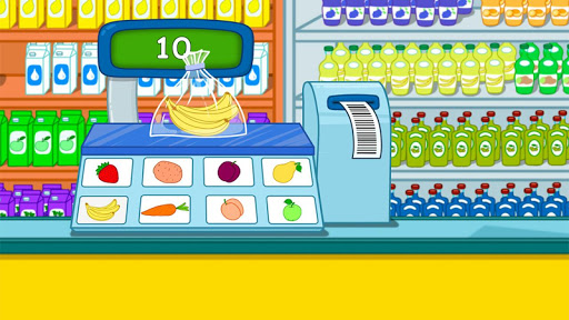 Cashier in the supermarket. Games for kids  screenshots 2