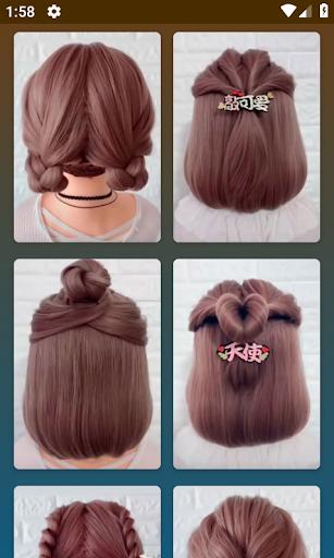 Hairstyles for short hair  Screenshots 1