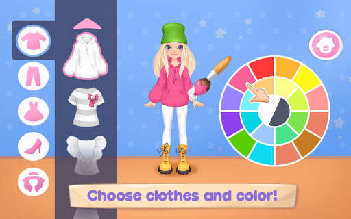 Fashion Dress up games for girls. Sewing clothes  screenshots 1
