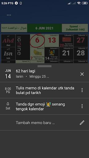 Kalendar Malaysia - Holidays & memo reminder apktram screenshots 3