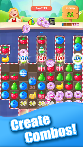 new sweet fruit punch: #1 free puzzle match 3 game screenshot 3
