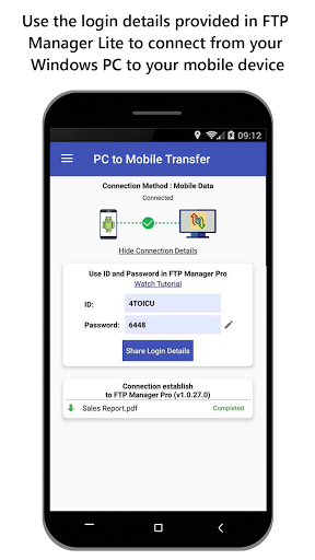 Foto do PC To Mobile Transfer – Send Files Anywhere