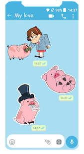 WAStickerApps Waddles für WhatsApp Screenshot