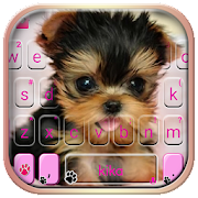 Cute Tongue Cup Puppy Keyboard Theme