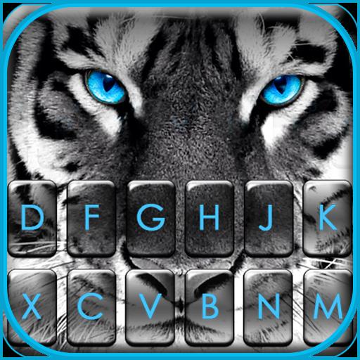 Fierce Tiger Eyes Keyboard Theme