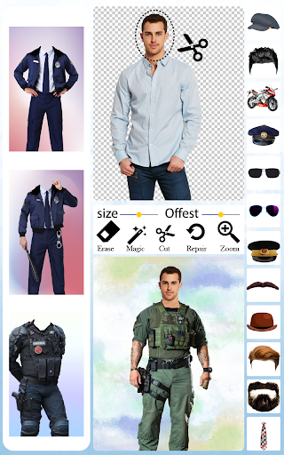 Men Police Suit Photo Editor android2mod screenshots 8