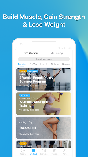 JEFIT Workout Tracker, Weight Lifting, Gym Log App 10.80 Screenshots 4