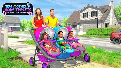 New Mother Baby Triplets Family Simulator  screenshots 5