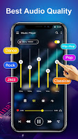 Music Player with equalizer and trendy design
