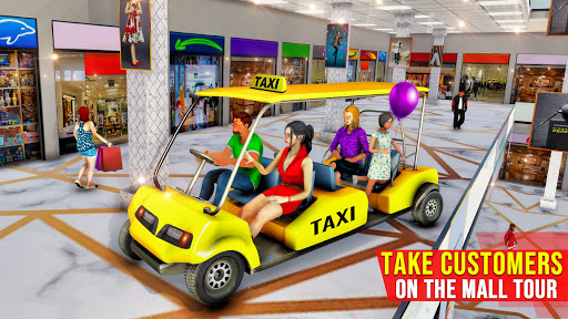 Shopping Mall Radio Taxi: Car Driving Taxi Games  screenshots 4