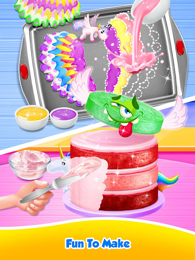 Unicorn Food - Sweet Rainbow Cake Desserts Bakery 3.1 screenshots 14