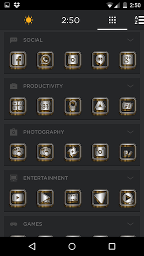 SilverGold 3D Icon CM&Launcher For PC Windows (7, 8, 10, 10X) & Mac Computer Image Number- 11
