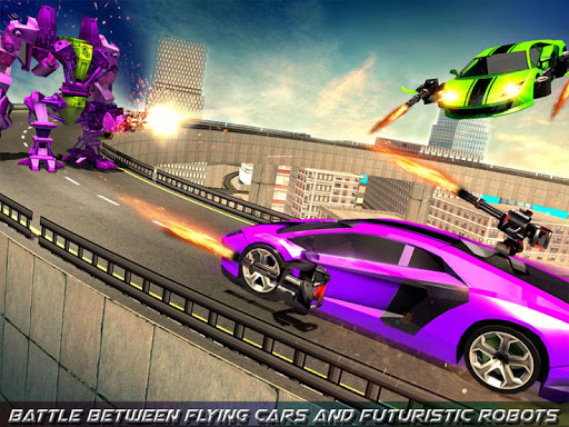 Flying Robot Car Games - Robot Shooting Games 2020 2.1 screenshots 10