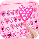 Doodle Love Pink Keyboard Theme