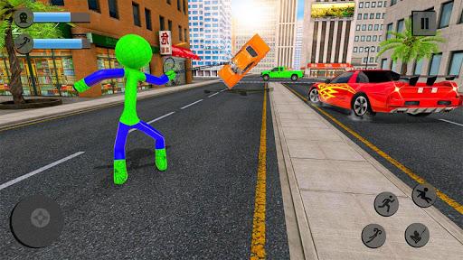Flying Stickman Rope Hero: Flying Hero: Crime City screenshots 3