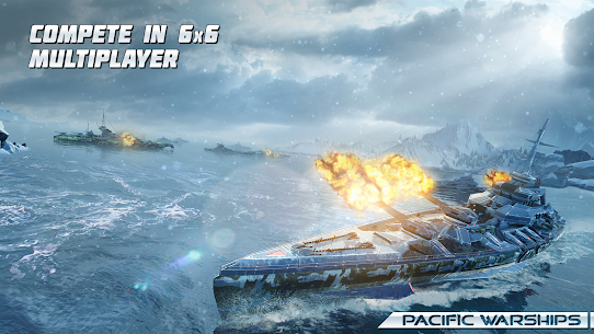 Pacific Warships: Online 3D War Shooter MOD (Unlimited Bullets) 2