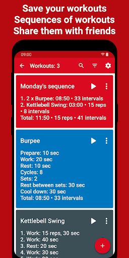 Tabata Timer: Interval Timer Workout Timer HIIT 5.2.1 Screenshots 4