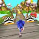 Fast Blue Hedgehog Rush - Jungle Run Adventure