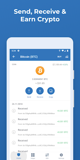 Trust Crypto Wallet: Bitcoin Ethereum Tron XRP PAX  screenshots 6