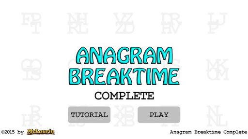 anagram breaktime complete screenshot 1