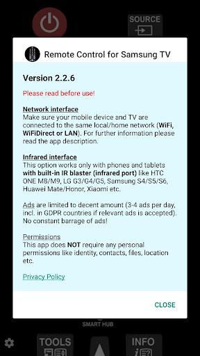 TV (Samsung) Remote Control 2.2.6 Screenshots 2